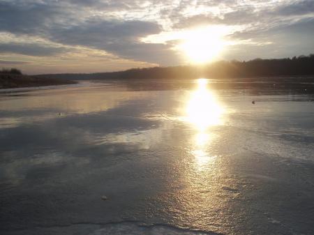 Lacs gelés en février